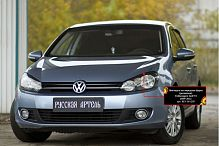 Реснички на передние фары Volkswagen Golf 6